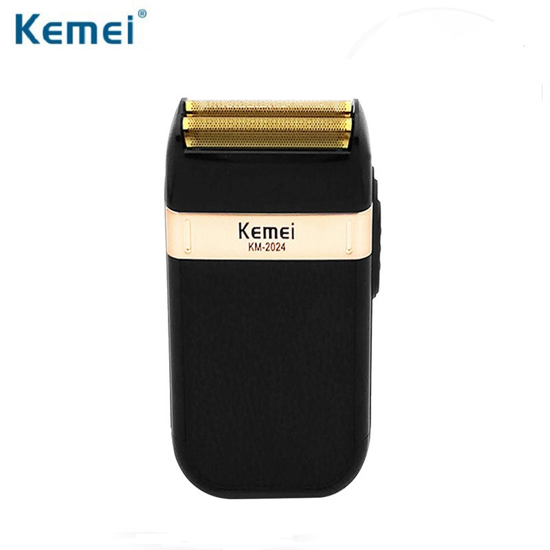Kemei KM-2024 Electric Shaver Razor for Men Double Blade Waterproof Alternative Cordless USB Reload Machine Barber TrimmerKemei KM-2024 Electric Shaver Razor for Men Double Blade Waterproof Alternative Cordless USB Reload Machine Barber Trimmer