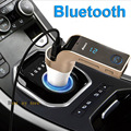 2016 Hot sale Bluetooth Car kit Handsfree G7 FM Transmitter Car MP3 Player support TF Card U disk & Line-in AUX USB Car charger