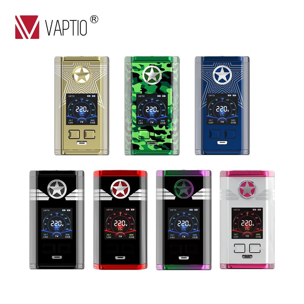 Vaptio CAPITÃO Cigarro Eletrônico 220w caixa mod Vape Vaporizador vape MOD para 2*18650 bateria 510 fio