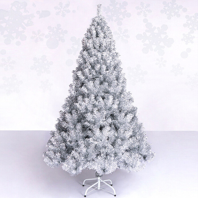 new year christmas tree 15 m 150cm luxury encryption silver christmas tree decorations christmas living