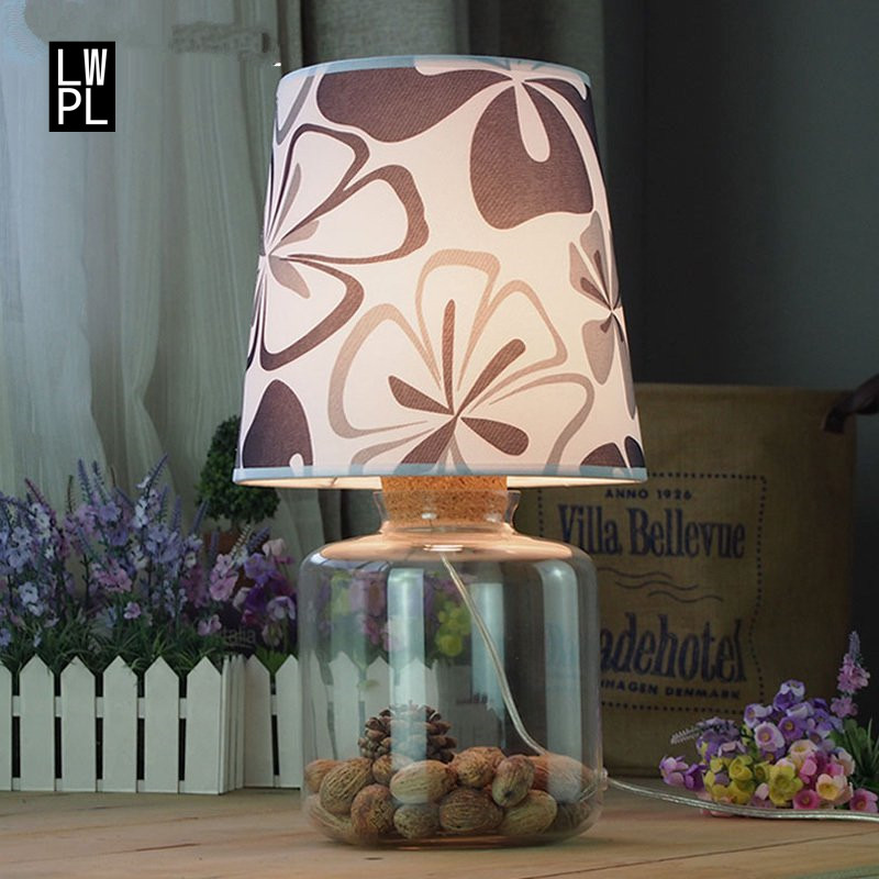 American Creative Standing Lamp Bedroom Bedside Lights Retro Fashion Linen Cover Glass Table Lamp Luminaria Lamp Desk for HomeAmerican Creative Standing Lamp Bedroom Bedside Lights Retro Fashion Linen Cover Glass Table Lamp Luminaria Lamp Desk for Home