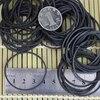 משלוח חינם שחור צבע 500 יח'\אריזה 40mm שחור גומייה אלסטי משרד בית ספר בית אבזר אריזה גומי טבעות