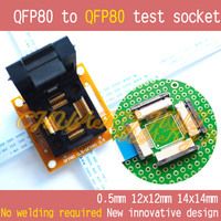 QFP80 to QFP80 test socket TQFP80 LQFP80 socket IC51-0804-808 socket Pitch=0.5mm