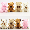 10CM 12CM Hot Lovely Plush Stuffed Dolls Teddy Bear Plush Toys with Tie Small Phone Pendant Accessories for Wedding Gifts J816