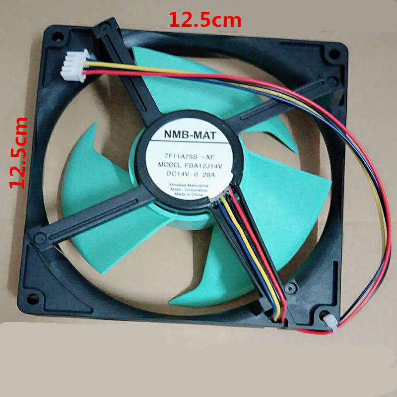 1pcs Applicable Refrigerator Fan NMB-MAT FBA12J14V 14V0.28A cooling fan Refrigerator Parts plus size ruffle floral flowy dress