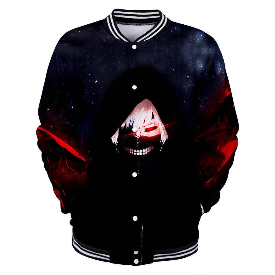 LUCKYFRIDAYF 2018  Tokyo Ghoul cotton  Anime 3D printed Baseball Jacket bomber men women Sweatshirt winter jacket coat tracksuit