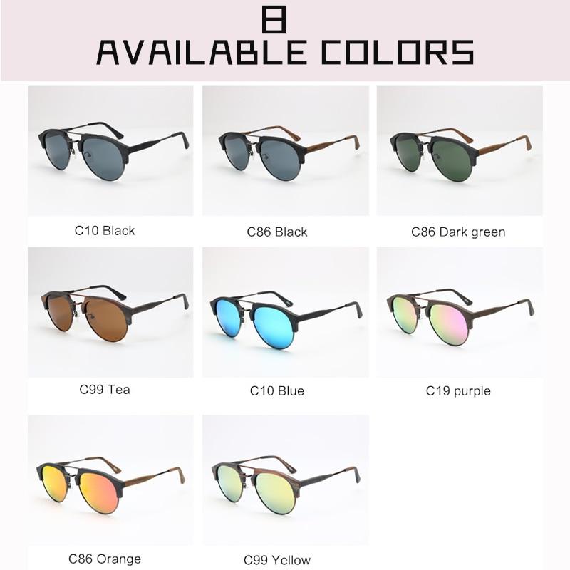 Viewnice Gafas de sol Óculos De Sol Do Vintage Tendência Marca Acetato  Polarizada Polaroid Handmade Óculos De Sol Homem De Madeira Espelho 15144  em Óculos ... 10be8f3b87