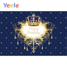 Yeele Happy Birthday Crown Pattern Scenic Baby Backgrounds Photography Seamless Photographic Backdrops For Photo Studio