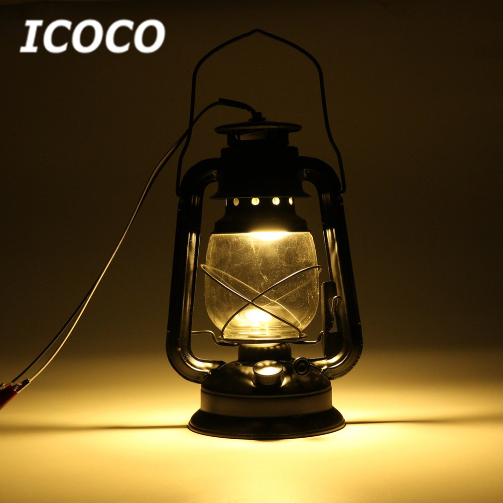 ICOCO E27 Vintage Lantern Wall Mounted Antique Lamp Sconce Light Energy Saving For Bar Corridor Outdoor Garden Backyard Lamp