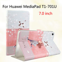 Fashion For Huawei T1 7 0 T1 701u Silicone PU Leather Cover Case Funda For Huawei