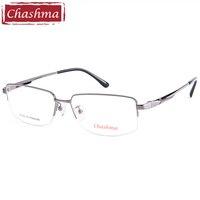 Pure Titanium Eyeglasses New Style Half Spectacle Glasses Frames High Quality Optical Eyewear Frame For Men