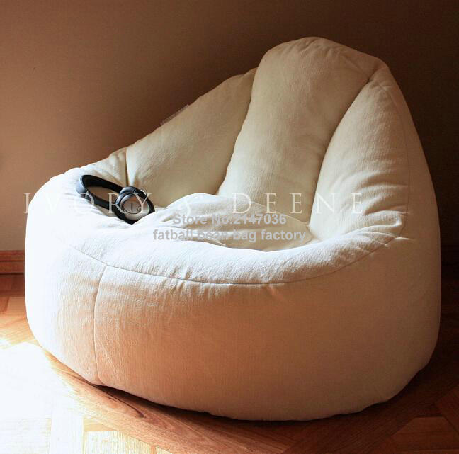 Furlicious Leanback Lounger High Back Support Bean Bag Living Room Sofa Chair Lazy Beds In White Sofas From Furniture On Aliexpress