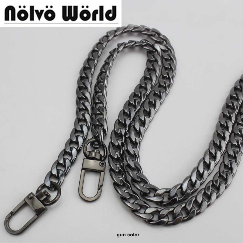 Wholesale 500 Pieces 130cm 9mm Width DIY Bag Strap Chain Purse Handle Purse Metal Strap Chain Strap Replaced Handbag Strap