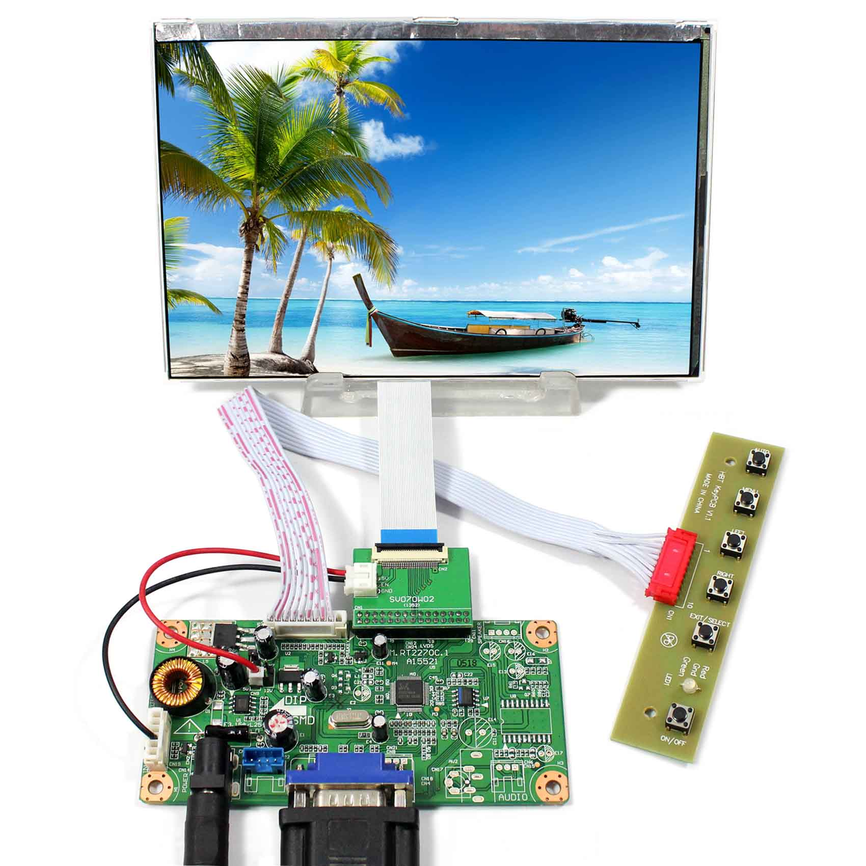 VGA LCD Controller Board 7inch 1280x800 HSD070PWW1-C00 IPS Sunshine Visible LCD Screen vga lcd controller board 10 1b101ew05 1280x800 lcd screen