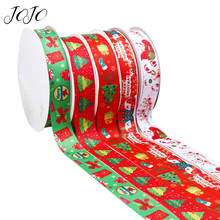 JOJO BOWS 38mm 5y Grosgrain Stain Ribbon For Crafts Christmas Party Decoration Tape Needlework Material Gift Wrapping Webbing