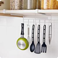 Multifunctional Iron Cabinet Seamless Cooktops Storage Rack Kitchen Organizer Row Hooks