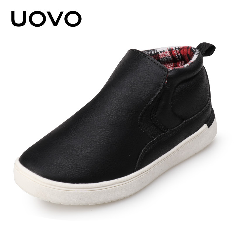 UOVO Brand 2017 New Mid-cut Autumn Casual Shoes for Boys Typical Style Shoes for Kids EUR SIZE 27-35 2016 new deluxe brand golden goose uomo donna fashion women men casual low cut shoes original box eur 35 46
