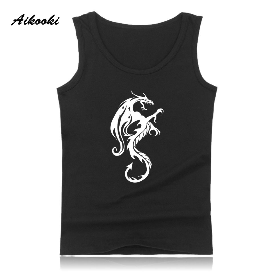 New Angry Dragon Vest Men Women Popular Casual Cotton Sleeveless Men's   Tank     Tops   Hip Hop Summer   Tank     Tops   Man Fashion Vest   Tops