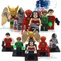 DC Лига Справедливости Супергероев Building Blocks Действие Чудо-Женщина, Shazam, Зеленый Фонарь, Киборг, Flash, Hawkman Figues