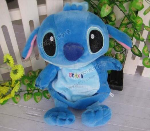 Candice guo! Super bonito dos desenhos animados do ponto Ponto boneca de brinquedo de pelúcia bebê mochila azul escola saco de crianças do jardim de infância de brinquedo de presente 1 pc