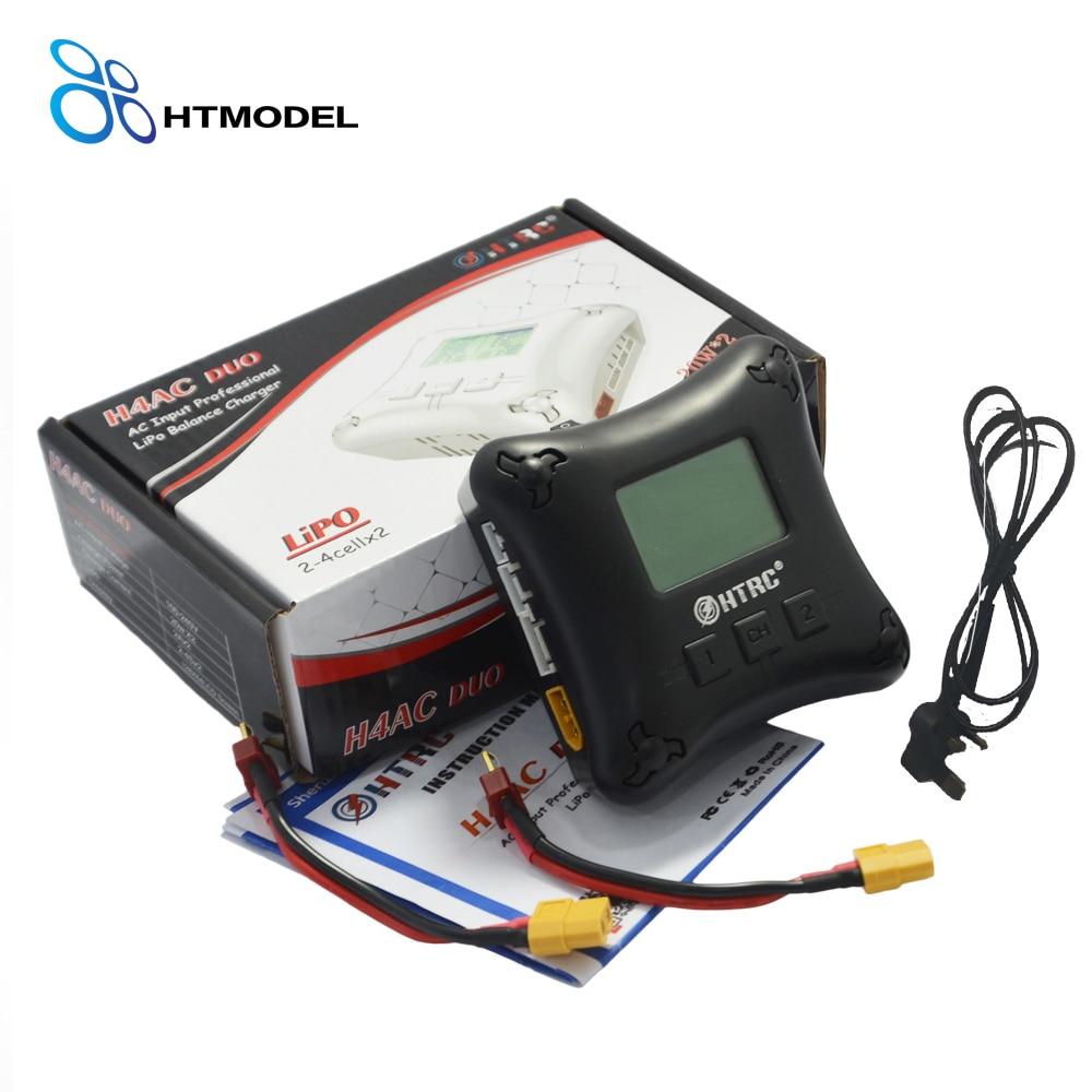 HTRC H4AC DUO 20 W x2 2A x2 Mini Portable RC Chargeur 2-4 s Lipo Batterie De Charge Double Port