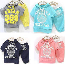 Kids Sportswear Suit Boys Girls Clothes Hoodie T-shirt+ Short Pants Outfits