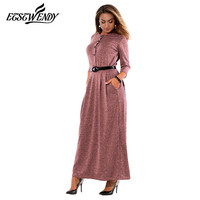 5XL 6XL Large Size Robe 2017 Autumn Winter Dress Big Size Elegance Long Dress Women Dresses
