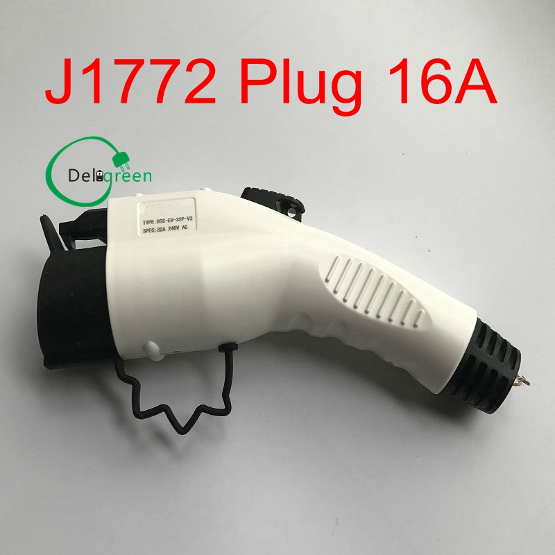 16A SAE J1772 AC PLUG /connector without CABLE for EV/electric Car Charging Or Charging Station 1pcs free shipping high quality quick 1 4 sae flare connector for refrigeration charging or discharging