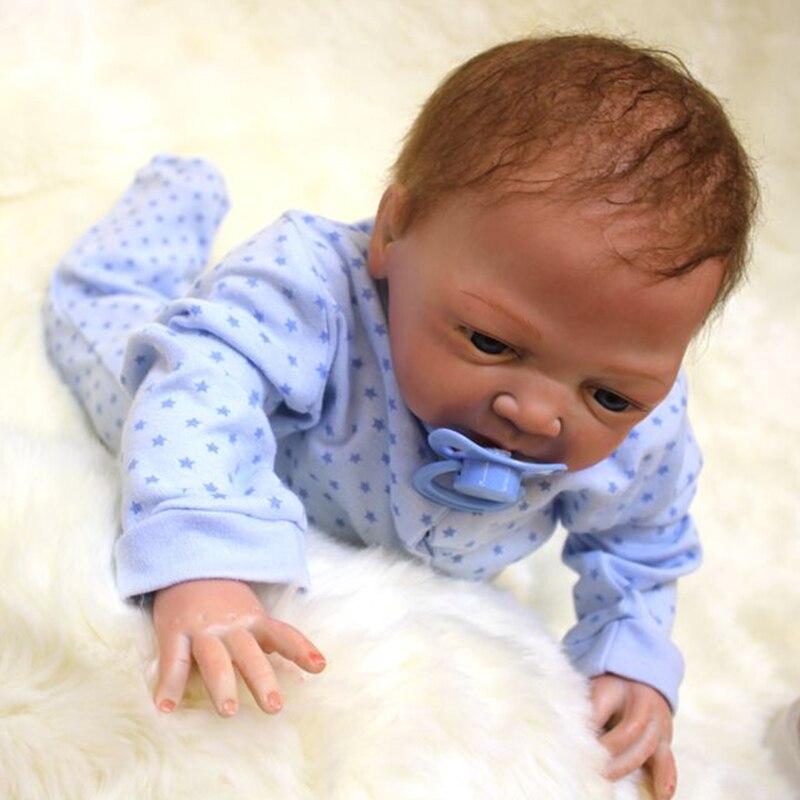 silicone macio menino menina brinquedo renascer bebê