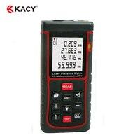 KACY 60 m Laser Distance Mesure, Laser Mesure avec 2 Niveaux À Bulle, gamme Finder