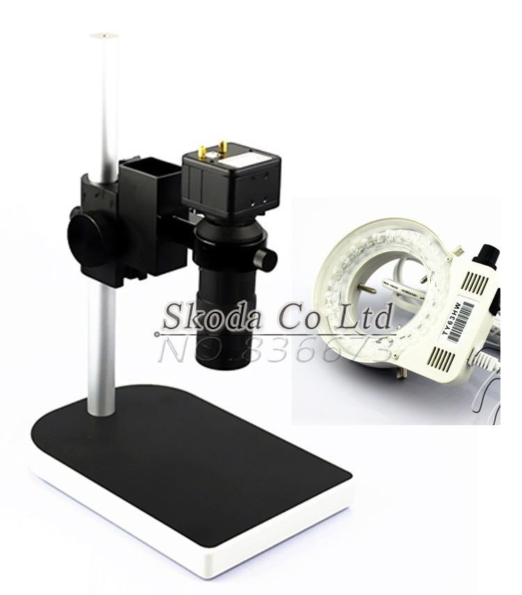 2.0MP 30F/S HD Digital Industry USB C-mount Microscope Video Camera Set System 1/2.5 Japan CMOS Table Stand for PCB SMD Repair factory direct sale mini industry microscope stand lcd digital microscope camera arm holder size 40mm