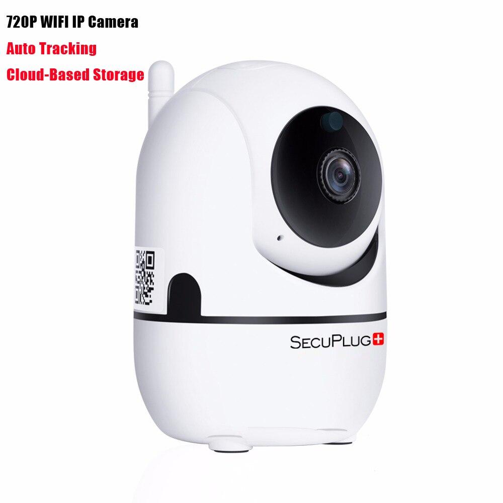 SecuPlug + SP09 Suivi Automatique 720 p Mini Wifi IP Caméra Baby Monitor Pan/Tilt 3.6mm Deux- façon Audio TF Carte Slot Nuit Vision
