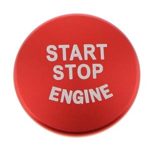 Image 2 - 1 Uds. Botón de arranque de motor de coche, accesorios de interruptor de parada de cubierta para BMW 1 2 3 4 Series F30 F20 F32 X1 F48 F45 Etc aluminio