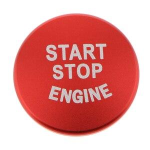 Image 2 - 1 قطعة محرك السيارة بدء زر استبدال غطاء وقف التبديل اكسسوارات لسيارات BMW 1 2 3 4 سلسلة F30 F20 F32 X1 F48 F45 الخ الألومنيوم