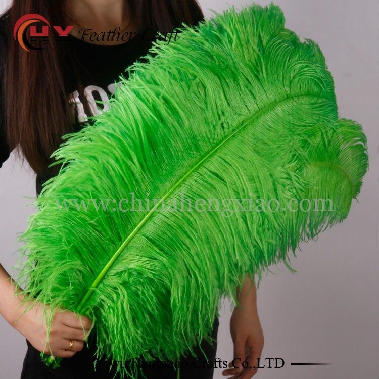 Wholesale 10pcs/lot 15-75cm Colored Green Large Ostrich Feathers Bulk For Wedding Decorations
