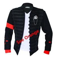 2018 Black Jacket Pants Sets Men Michael Jackson High Quality Performance Punk Military Army Eagle Perfomance Suits