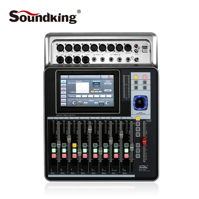 Soundking High quality Mixer Pro Audio D-Touch 20 Digital Mixing Console Touchscreen WiFi 20-Inputs/16-Bus/8-Outs hot sale A20