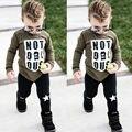 Chic Criança Recém-nascidos Conjunto Roupa Infantil Meninos Roupas de Bebê Criança Top + Calça Bodysuit