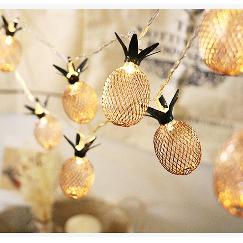 SLTMAKS retro style Home decoration Pineapple 3M LED String Lights for Room Wedding Decoration Indoor lighting for decoration