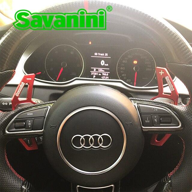 Savanini dsg volante mudança de engrenagem paddle shifter extensão para audi a3/a4/a5/q3/q5/tt/s3/r8/a6 acessórios do carro