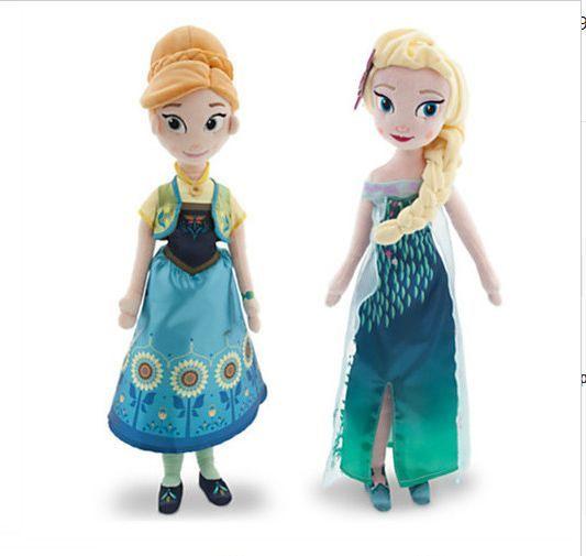 2016 Новый Анна и Elsa Плюшевые Игрушки Лихорадка 40-50 СМ большой Принцесса Чучела куклы boneca Brinquedos для Детей день рождения подарок