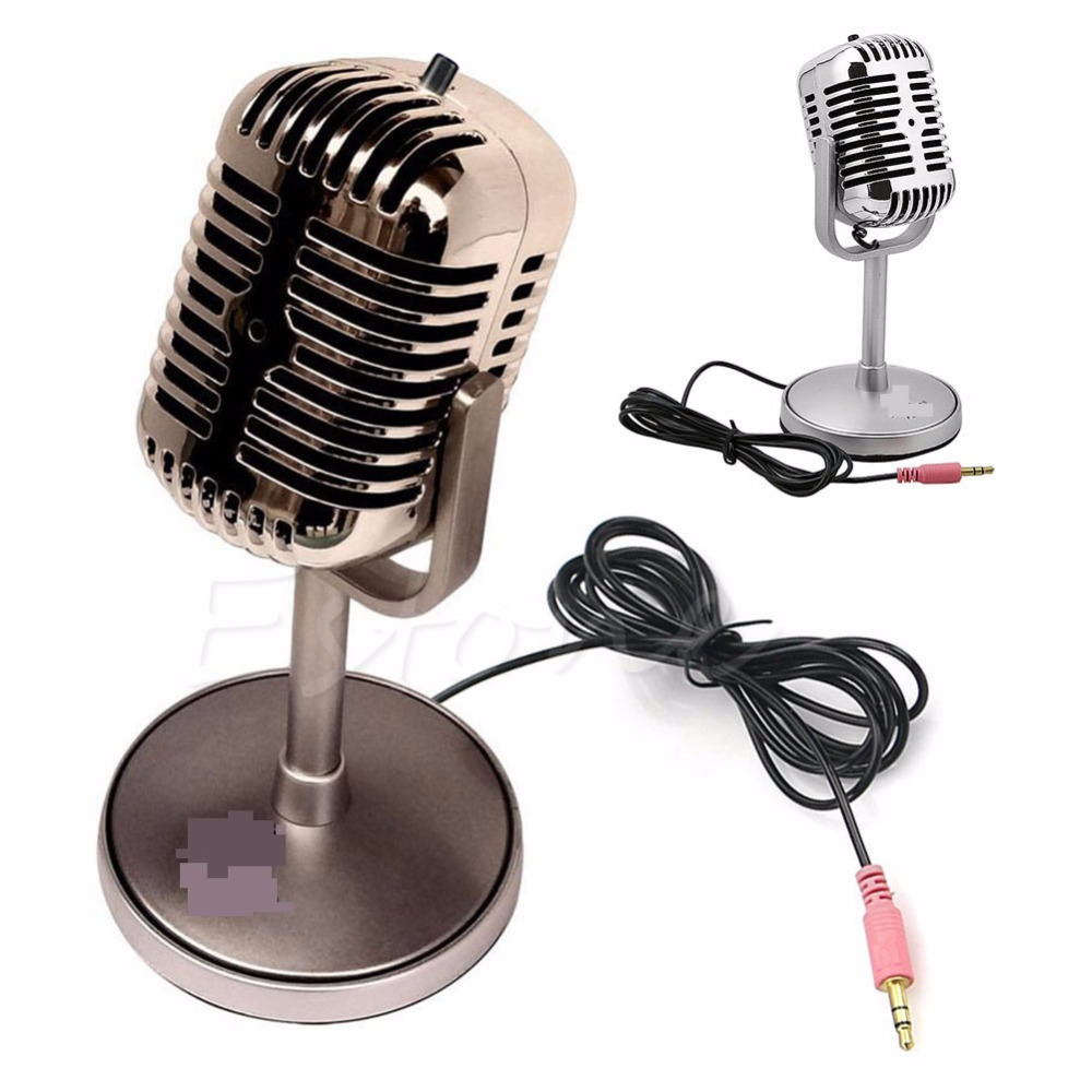 3 5mm stereo recording desktop computer laptop mini microphone for sing chatting hot sale in. Black Bedroom Furniture Sets. Home Design Ideas