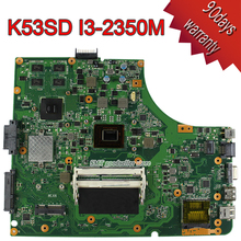 For Asus K53SD I3-2350M Motherboard Rev6.0 Mainboard GT610M 2GB HM65 DDR3 100% tested