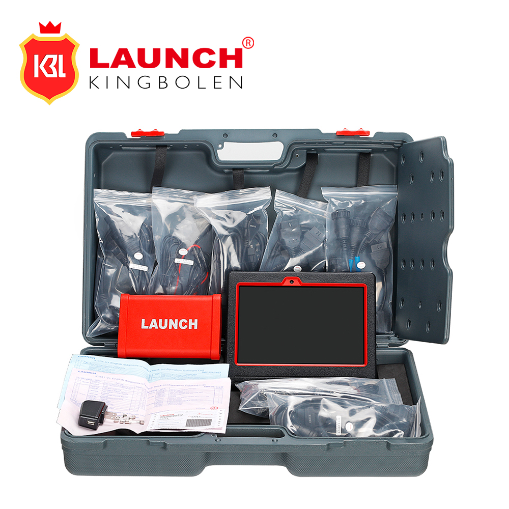 LAUNCH X431 HD Module with X431 V tablet Heavy Duty Adapter box Diagnostic Tool for 24V