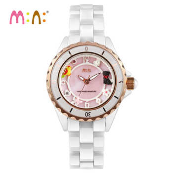 2017 Brand Mini 3D Cat Watch Waterproof Ceramic Quartz Wrist Watch Gold Fashion Ladies Watches Clock Women Hours Montres Femme - DISCOUNT ITEM  10% OFF All Category