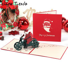 1pcs 3D Pop Up Greeting Cards With Envelope Post Card For Birthday Christmas Valentine Day