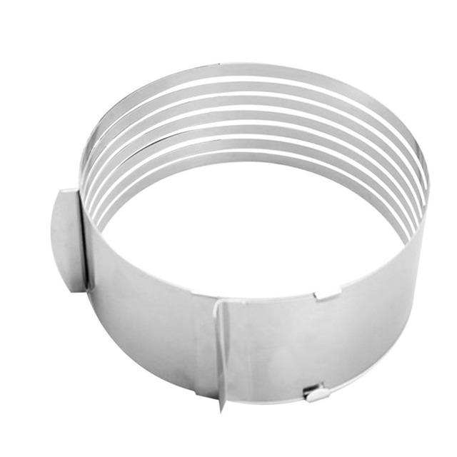 15-20cm Adjustable Cake Slicer Mold Cutter Cake Ring Tools Cake Cutter Round Shape Bread Cake slicer Adjustable Layered