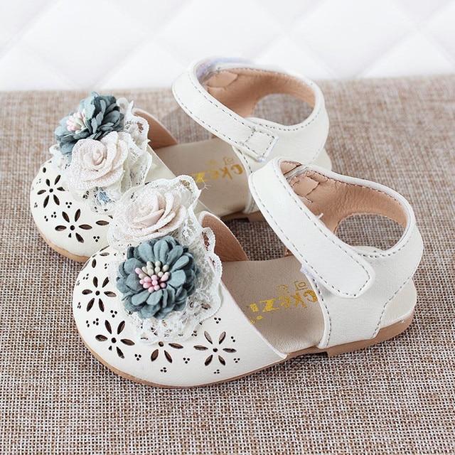 פעוט תינוקות ילדי תינוק בנות מתוק אלגנטי פרל פרח נסיכת נעלי סנדלי תינוק סנדלי ילדים סנדל לילדה
