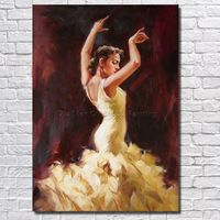 Free Shipping Single Hand painted Oil Painting Dance Girl Household Adornment Picture of American Art Home Decor Wall Painting