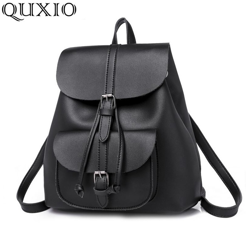f28eab436e46 2018Europe and Americ New Fashion Trend Retro Style Woman s Simple And  Elegant PU Leather Bag Large Capacity Backpack ZZL22-in Backpacks from  Luggage   Bags ...